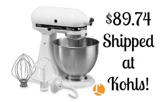 kitchen aid coupons commercial shelving kohls coupon code kitchenaid stand mixer just 89 74 shippedliving ka