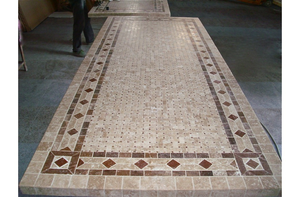 wrought iron kitchen table hotels with kitchens in las vegas 160-200-240cm italian mosaic marble outdoor patio ...