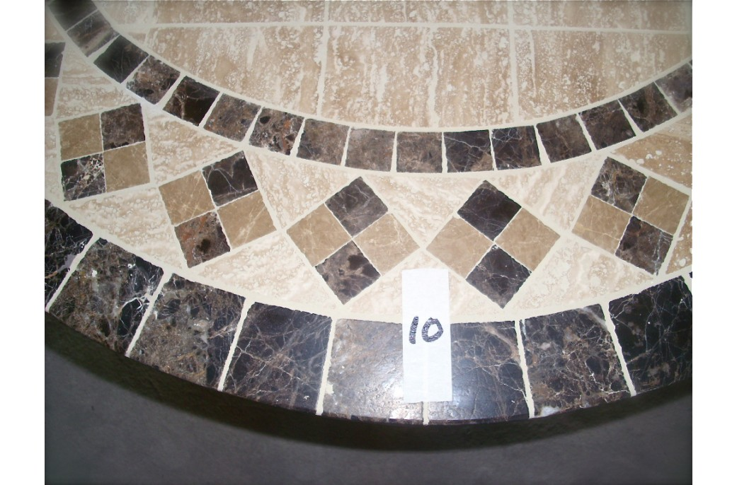 160 180cm Oval Outdoor Garden Stone Mosaic Marble Dining Table OVALI