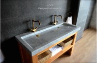 1200mm Double Trough Carrara white Marble Bathroom Sink - LOVE