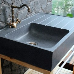 Farmhouse Tables And Chairs Rocking Chair Cradle Combo 90x60cm Genuine Grey Granite Stone Kitchen Sink - Norway