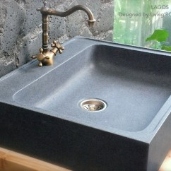 Stone Kitchen Sink Pottery Barn Islands 700x600 Grey Granite Lagos 700mm