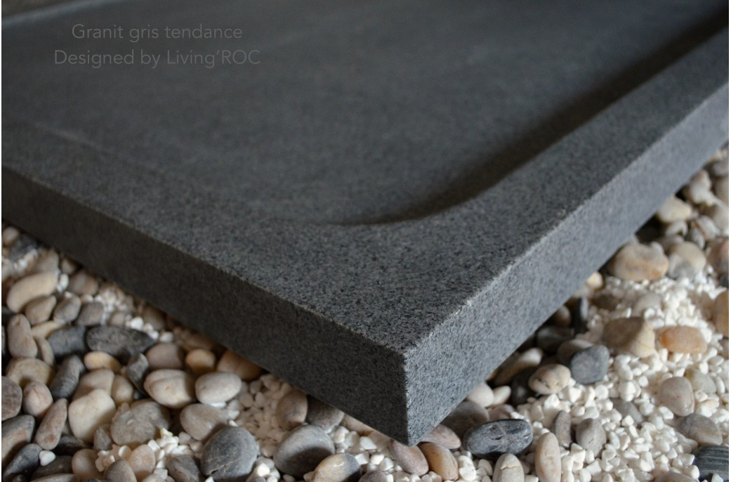1200x1000 Grey Granite Solid Stone Bathroom Shower Tray KIAORA