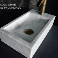 White Wrought Iron Kitchen Chairs Chair Cover Hire Southampton 400mm Marble Wash-hands Stone Basin Kaloo