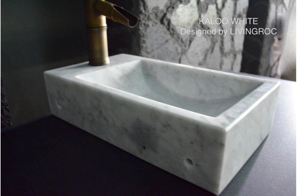 granite top kitchen table used equipment 400mm white marble wash-hands stone basin kaloo