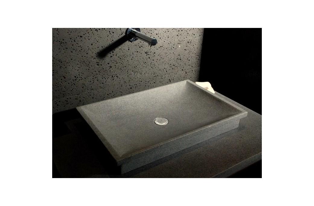 vasque en pierre naturelle a poser 60x40 granit veritable dune