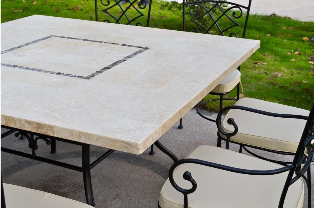 Table De Jardin Carree Cm Mosaique Pour Exterieur Interieur ...