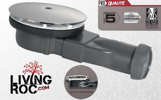 bonde douche extra plate a membrane 90mm flat stone