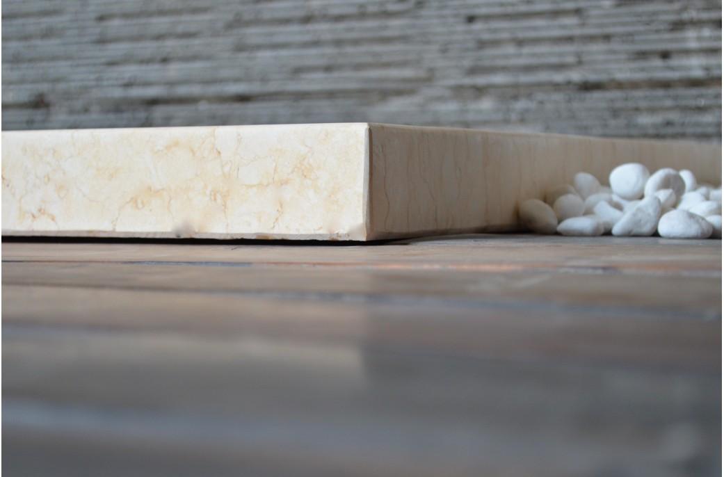 Bac de douche Beige PALAOS SUNNY en marbre dgypte 120x80  LivingRoc