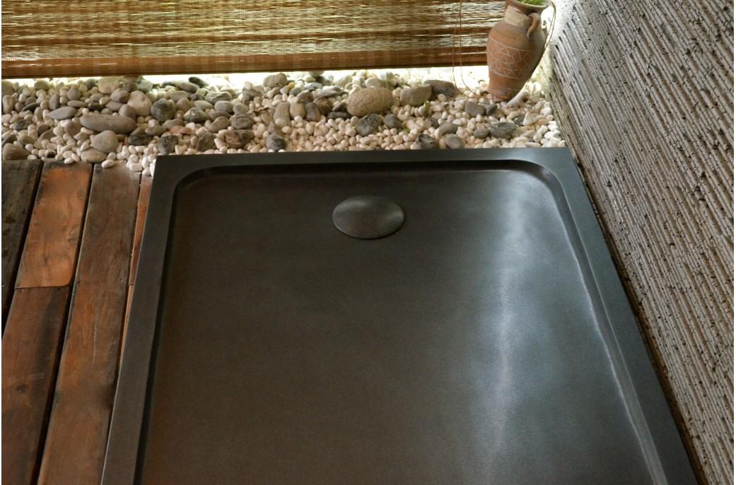 Receveur De Douche En Pierre RUBIX SHADOW 120X90 Granit