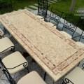 Table mosa 239 que en pierre toscane de jardin en fer forg 233 marbre rouge
