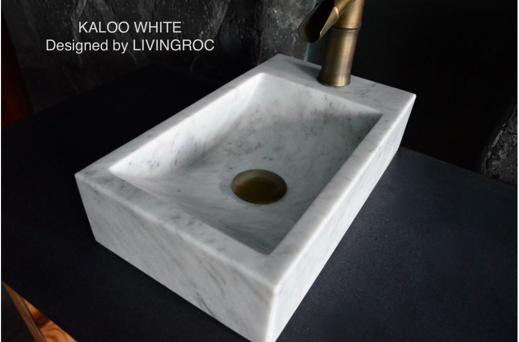 Lave Mains En Pierre Lave Main En Pierre Marbre Blanc Xcm Kaloo White L