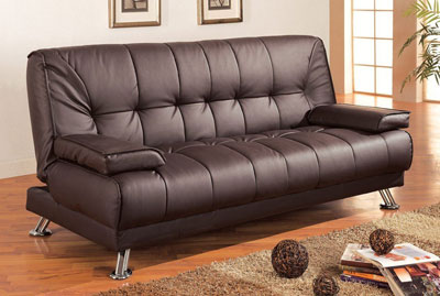 Coaster Futon Sofa Bed with Removable Arm Rests