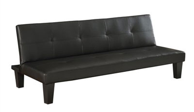 Homegear Modern Faux Leather Convertible 3 Seater Sofa