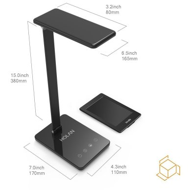 LED Desk Lamp, Holan 8W Eye-Care Desk Light ( Ultrathin Aluminum Alloy, Dimmable Lighting Mode, Touch Control Pannel, Memory Function,1 Hour Auto Timer) for Reading/Study/Relaxation/Sleeping