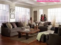 Modern Living Room Set Fabric Gray