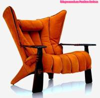 Orange Accent Chairs With Arms