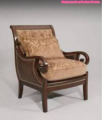 Wooden Accent Chair For Living Room