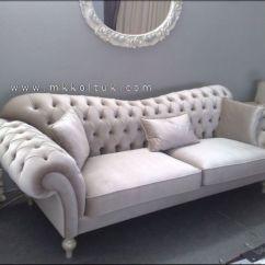 Chesterfield Leather Sofa For Sale 46 Deep Velvet Seat In Cream High Quailty ...