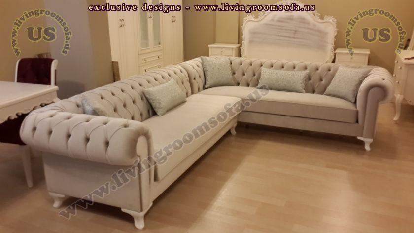 leather chesterfield sofa beige dark living room ideas modern corner ...