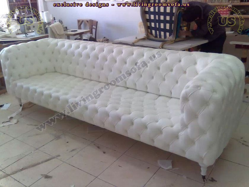 white chesterfield 3 seater sofa sleeper bed mechanism leather best of ...