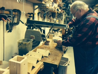 """Pops in the """"Pops Shop"""" - making Carpenter Bee Boxes"""