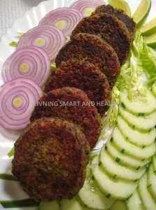Kale Chane Ke kebab / Black Chickpea Kebab
