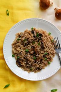 Mushroom Rice Pilaf – Instant Pot, Stove Top