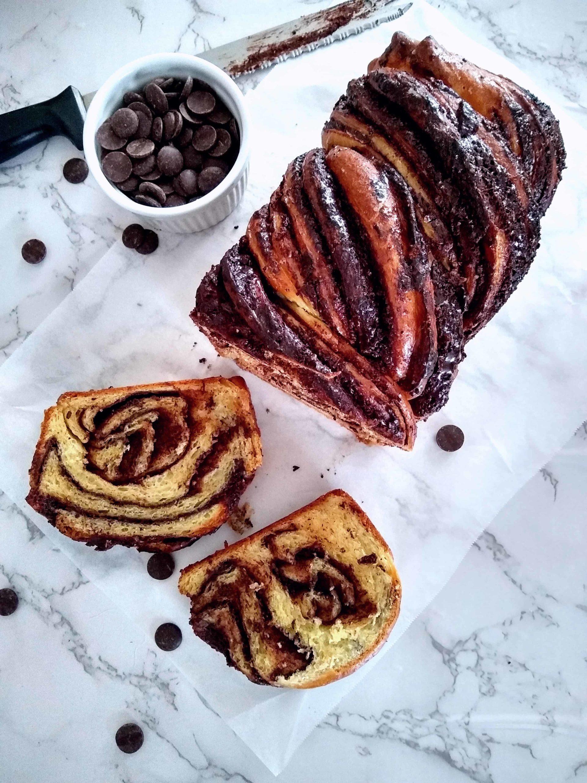 Babka Bread / Chocolate Babka / Krantz Cake