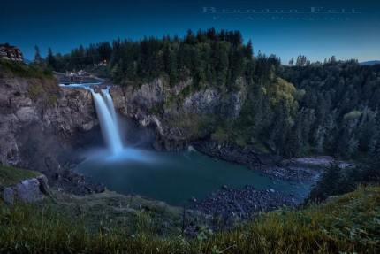 Snoqualmie Falls, 4/20/15. Photo by Brandon Fell