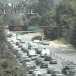 Sinkhole discovered on I-90 near Issaquah; lane closure, repair work causes 4-mile backup
