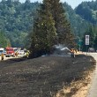 Fiery, fatal rollover accident triggers brush fire on I-90 near Preston; snarls afternoon traffic