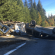 SUV hauling trailer flips on eastbound I-90 near North Bend