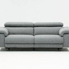 Grey Power Reclining Sofa Pink Vine Talin W Usb Living Spaces