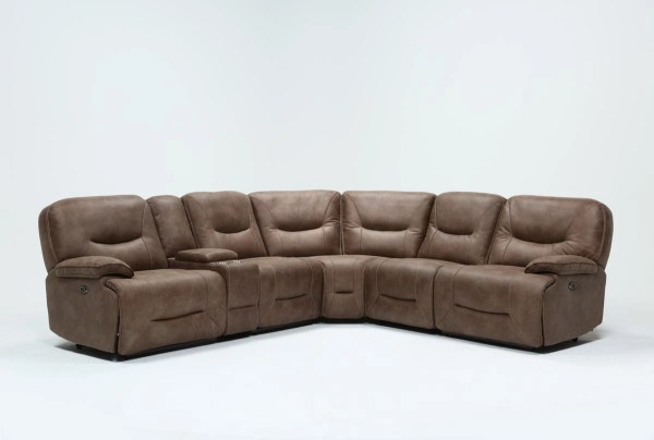 Jackson 6 Piece Power Reclining Sectional Living Spaces