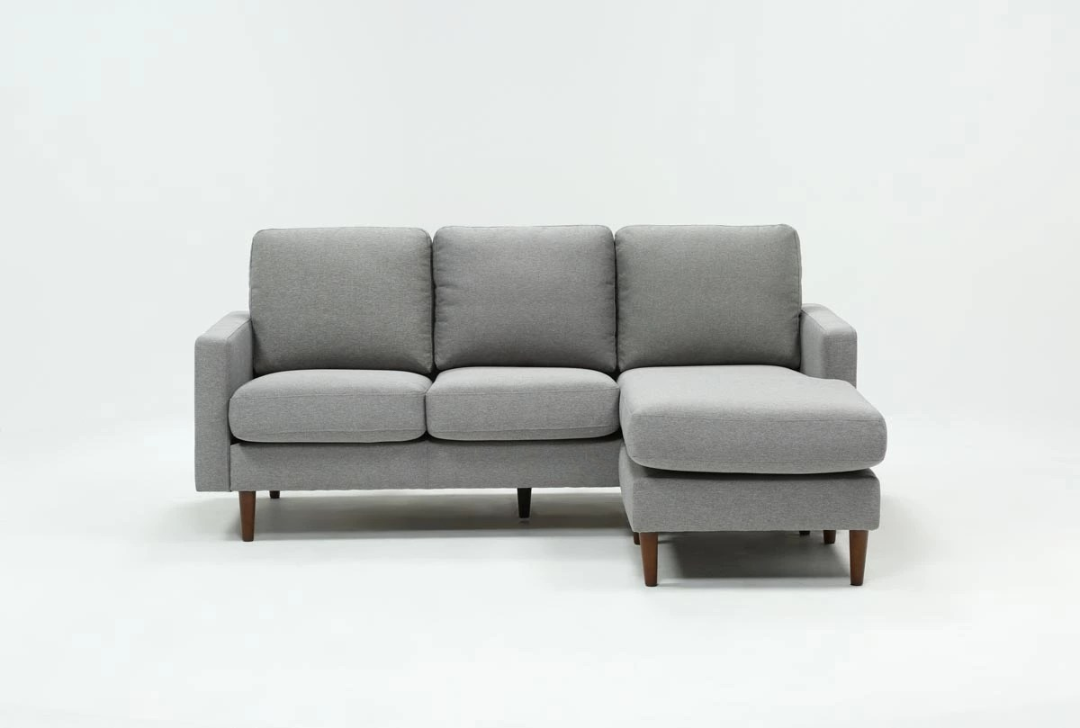 living es sofa home theater seating grey chaise sectionals you ll love