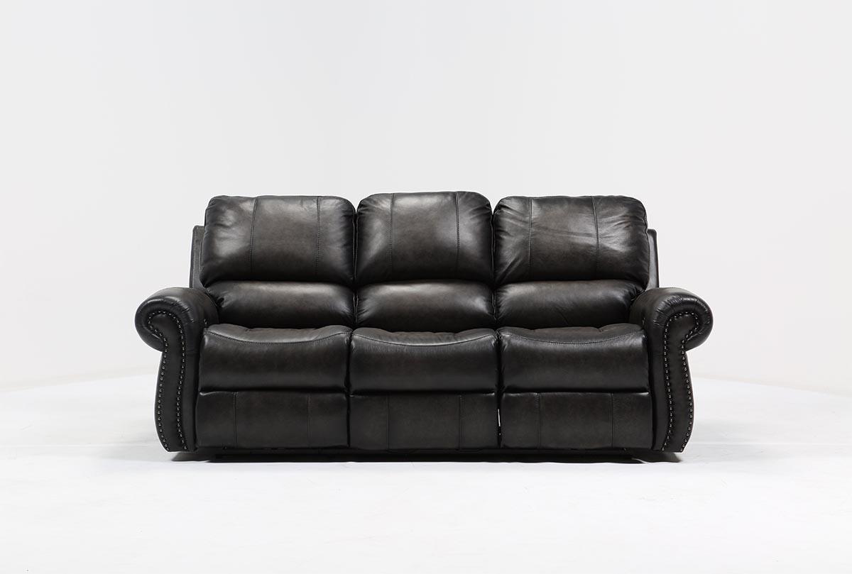 double reclining leather sofa mini table dual homelegance cranley