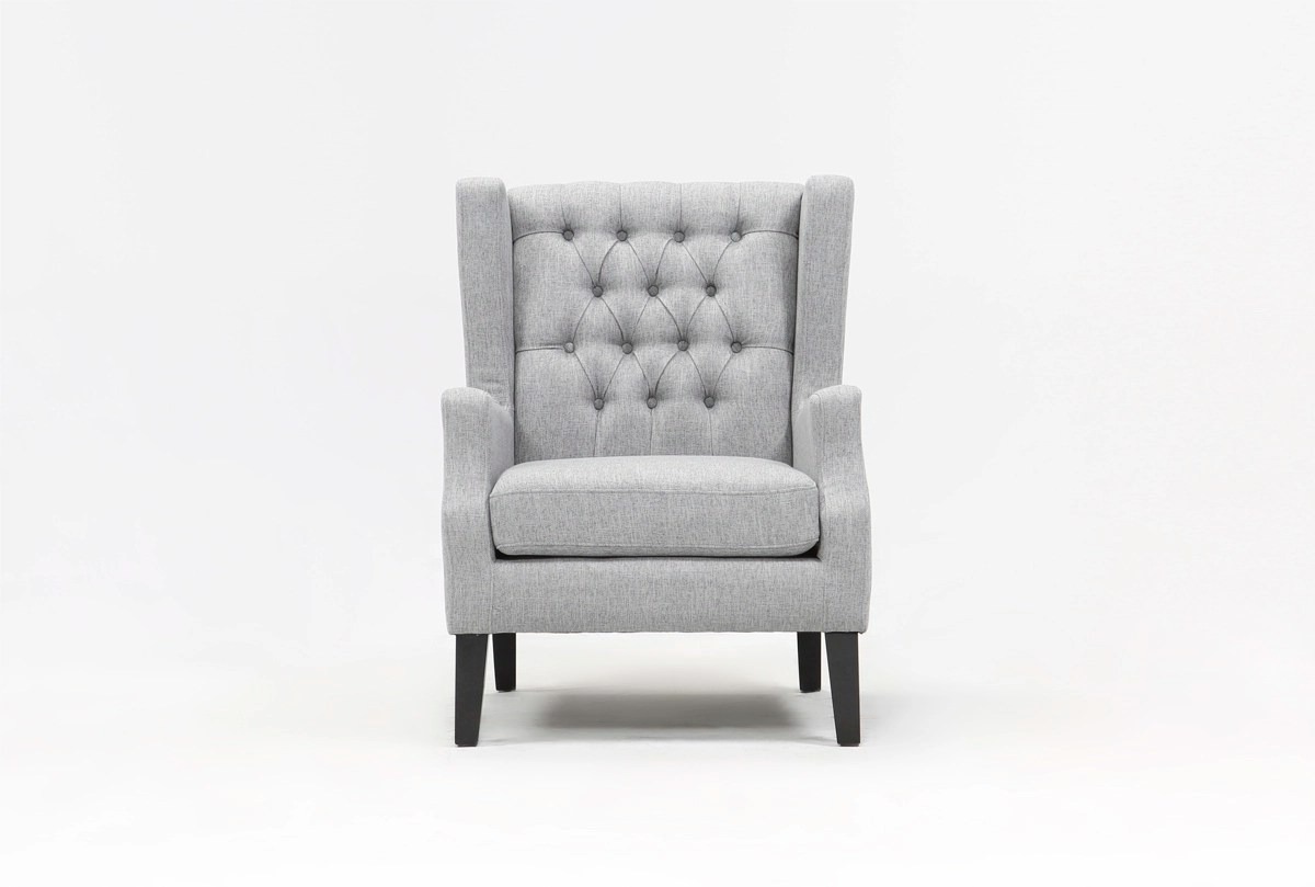 Peyton Silver Accent Chair