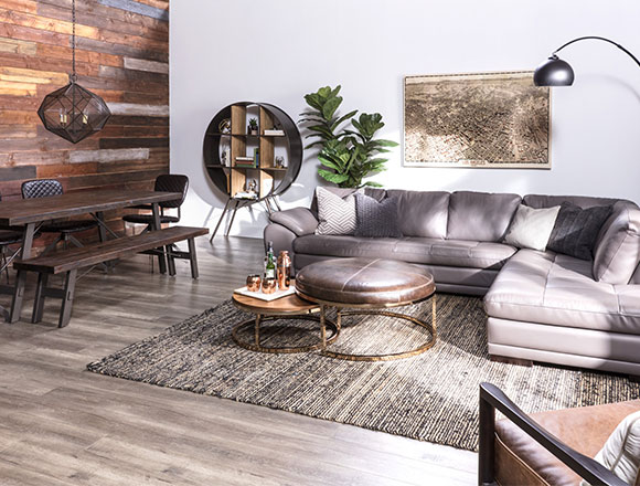 living room space red and brown ideas decor spaces industrial with vaughn granite sectional
