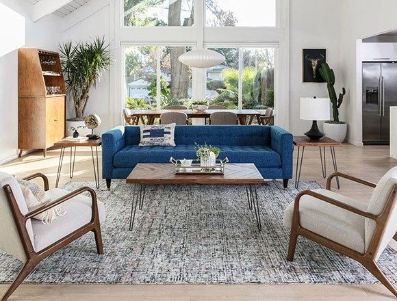 living room sofa and chair ideas steakhouse brooklyn shooting decor spaces mid century with tate estate