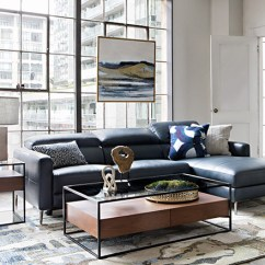 Modern Interior Decorating Ideas For Living Room 2 Color Schemes With Dark Brown Furniture Decor Spaces Tara Blue Piece Right Facing Chaise Sofa