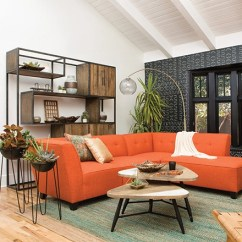 Orange Living Room Decorating Ideas Southwest Design Decor Spaces Mid Century With Benton Sofa