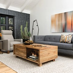 Mid Century Modern Living Room Plaid Couches Furniture Ideas Spaces With Brennan Sofa