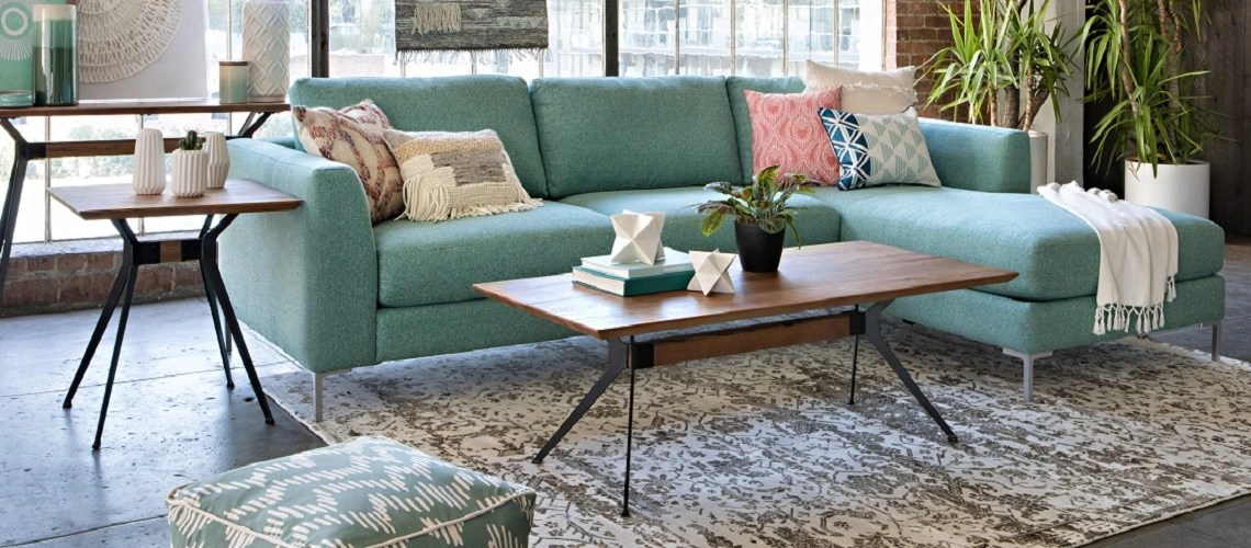 small living room sofa color leather tucson az the teal a complete styling guide spaces get to know real defining decorating with this popular