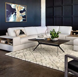 Cosmos Grey 2 Piece Sectional WLaf Chaise Living Spaces