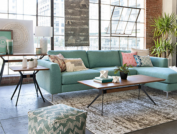 living room furniture ideas city tables decor spaces boho with romy 2 piece sectional w raf chaise