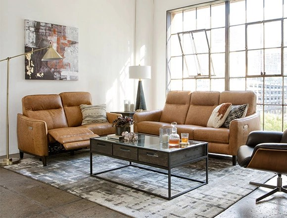 living room reclining sofas end table sets ideas decor spaces country rustic with torben brown leather power sofa w usb