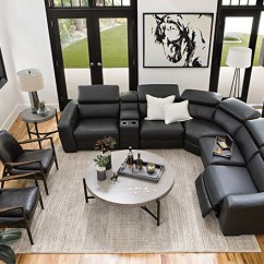 Modern Living Room Styles Green Color Schemes For Rooms Ideas Decor Spaces With Kristen Slate Grey 6 Piece Power Reclining Sectional