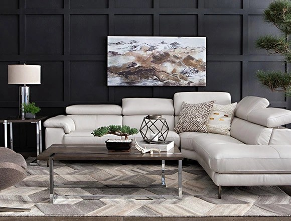 2 piece living room furniture lowes light fixtures ideas decor spaces modern with tess power reclining sectional w raf chaise