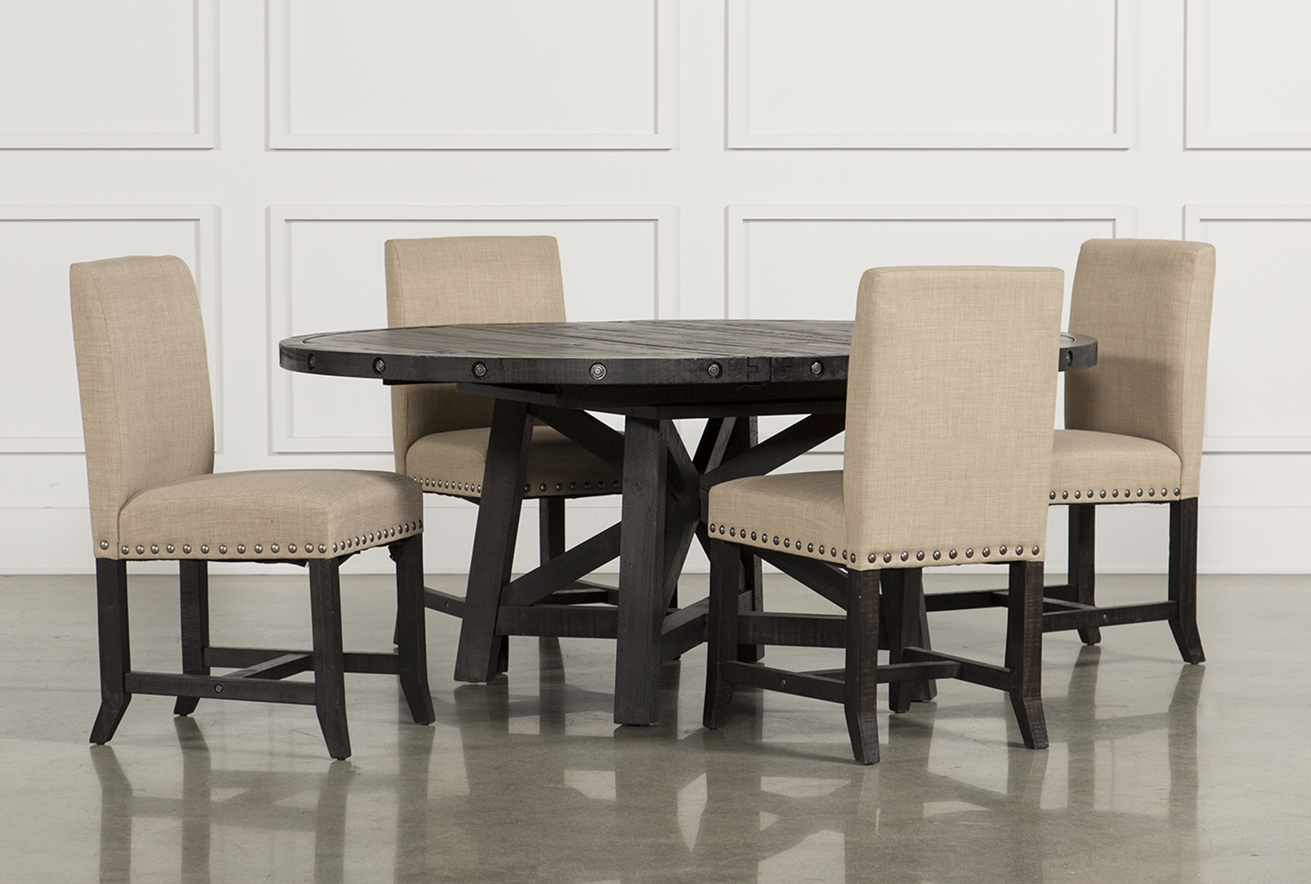 Jaxon 5 Piece Dining Set Withupholstered Chairs